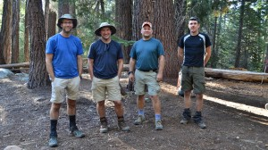 The four guys I camped with