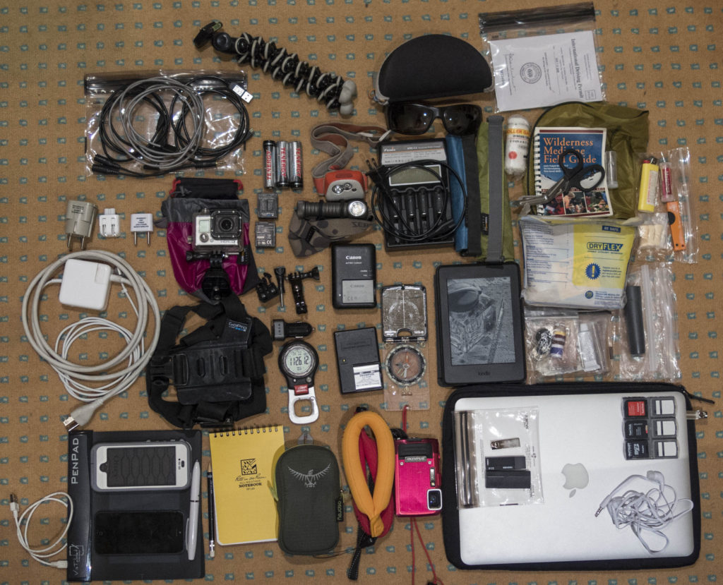 Electronics and other miscellaneous gear.