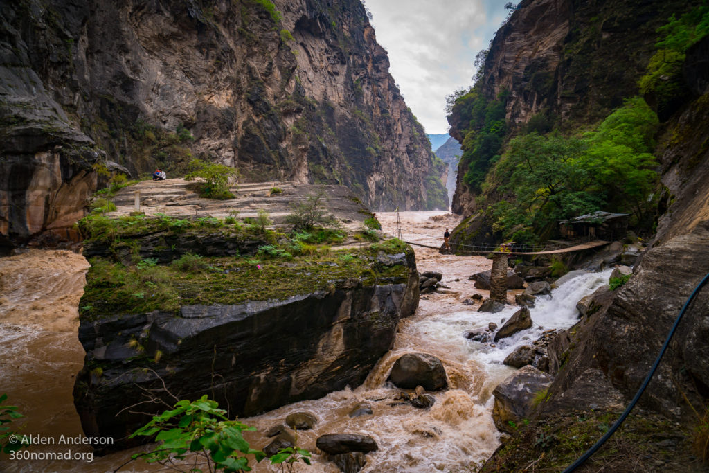 Tiger Leaping Gorge Rock. The legendary rock where it's said THE eponymous tiger lept from. (5 RMB)