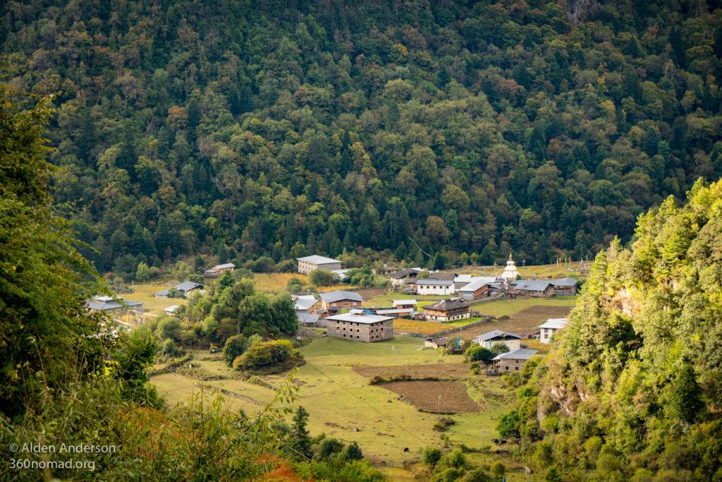 Lower Yubeng Village viewed from Upper Yubeng