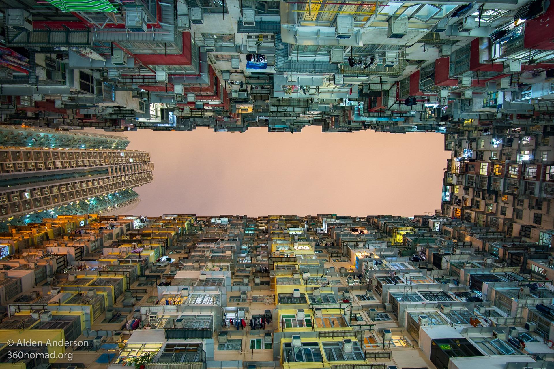 Hong Kong Monster Building at Night