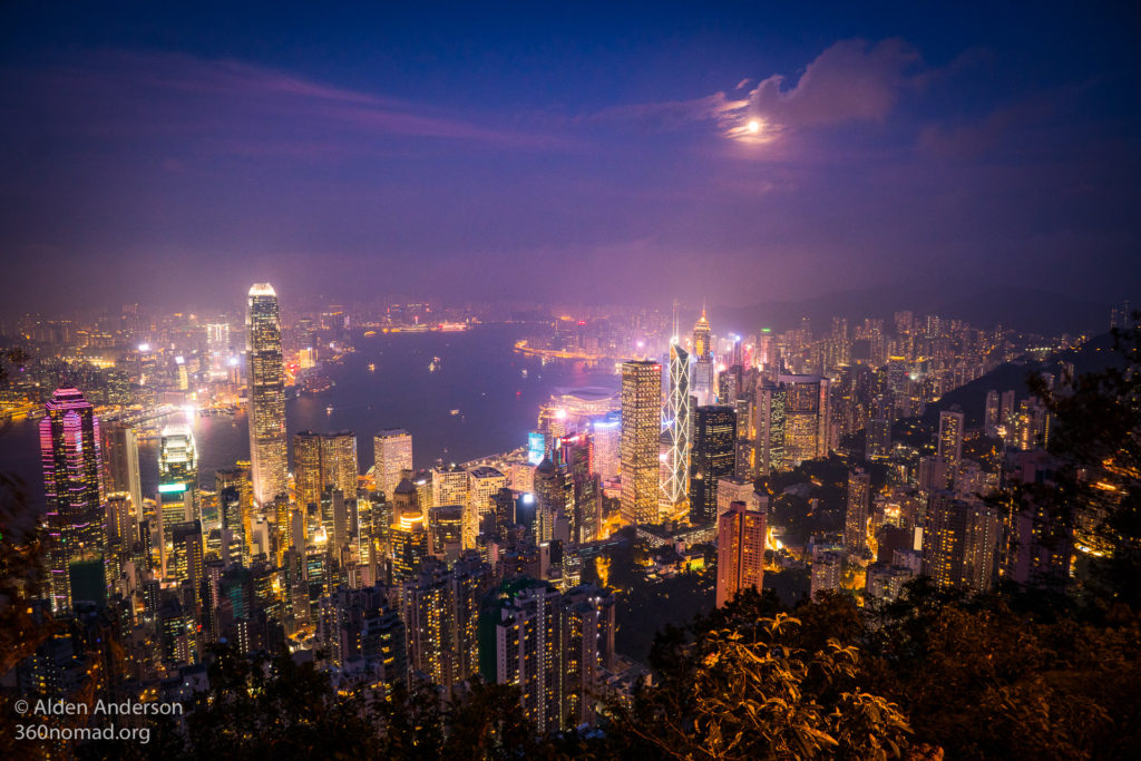 Victoria Harbour Hong Kong from Victoria Peak