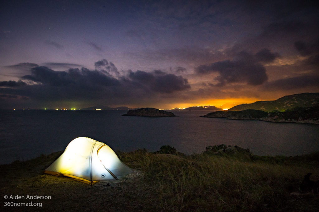 Camping on Po Toi island
