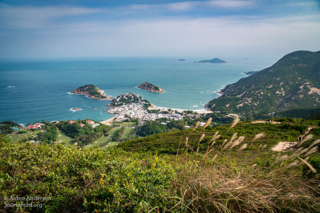 Looking down on Shek O from Dragon's Back