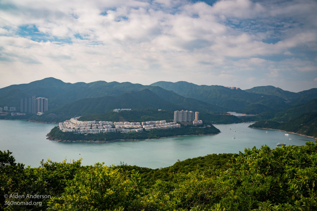 View of Tai Tam Bay, to the West