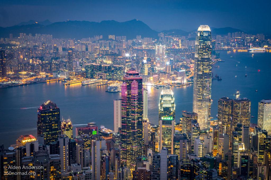 Hong Kong Harbour from Victoria Peak