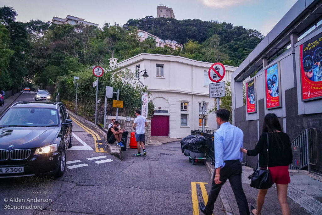 Victoria Peak keep to the right