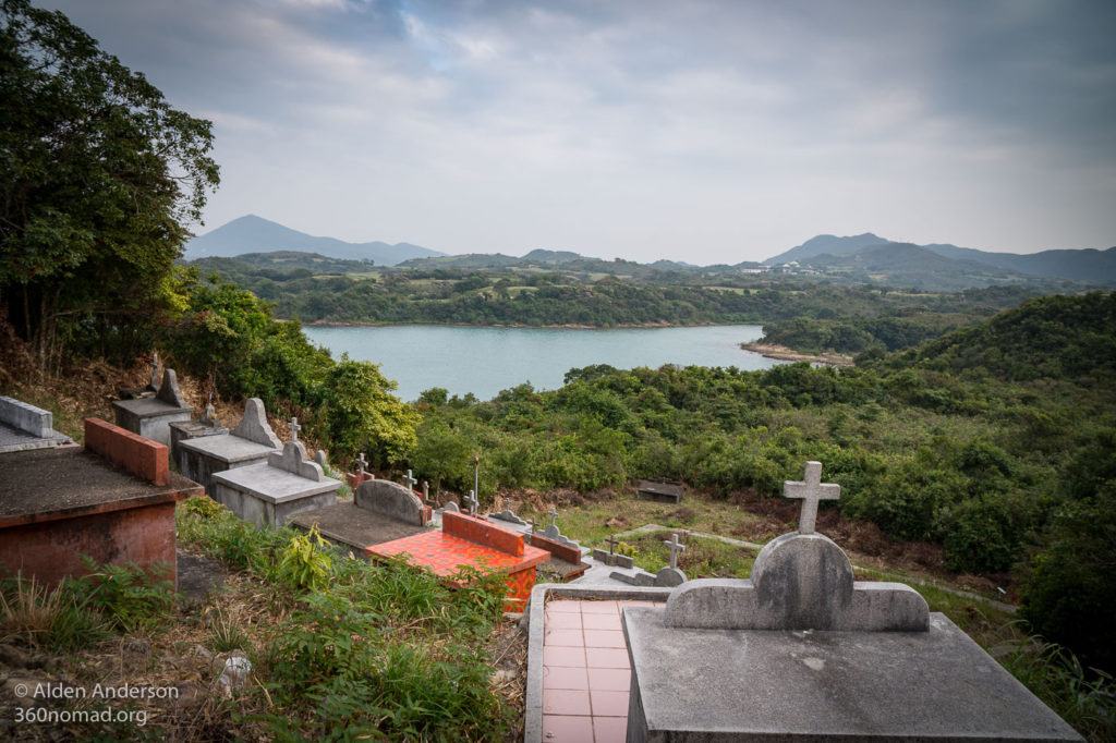 Graveyard view looking toward Kau Sai Chau