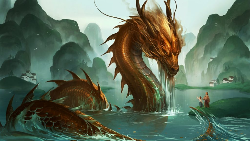 Chinese Dragon, associated with water
