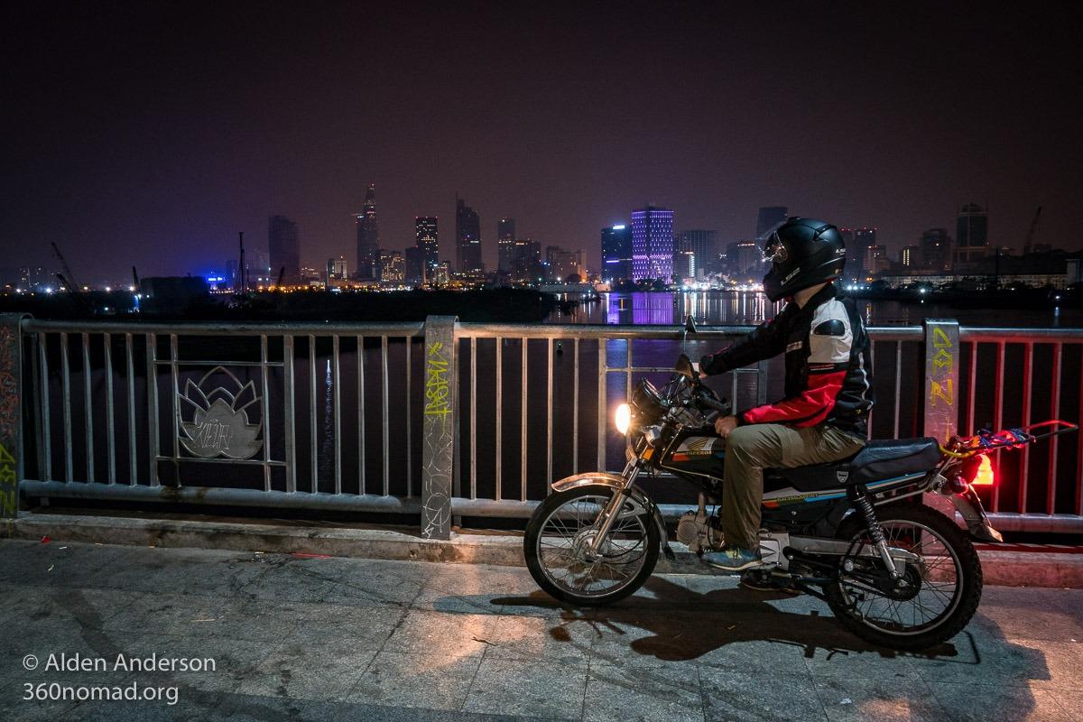 Thu Thiem (Lovers) Bridge, Ho Chi Minh City Skyline