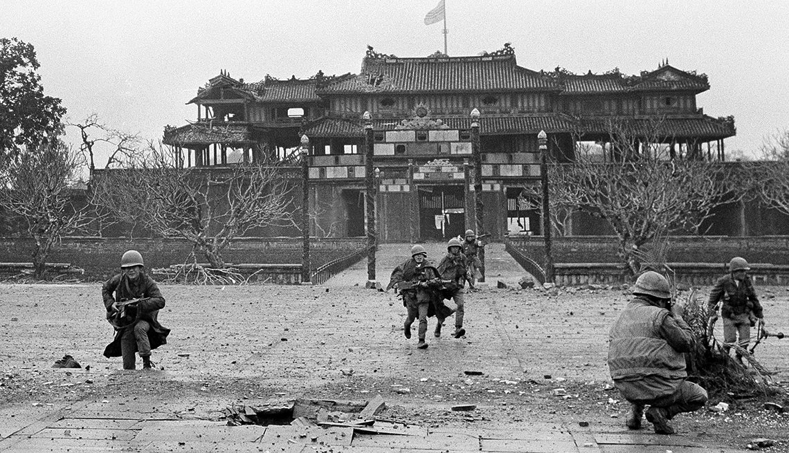 The Meridian Gate Hue Citadel during the Tet offensive, Vietnam War PHOTO BY: EDDIE ADAMS/AP