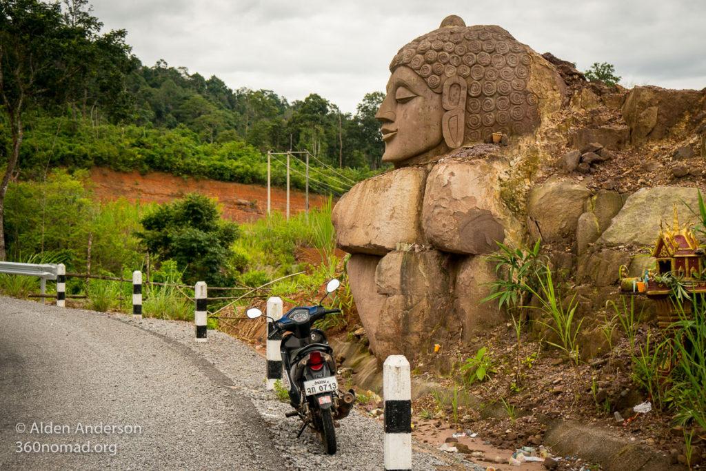 Buddhist Statues leaving Thalang