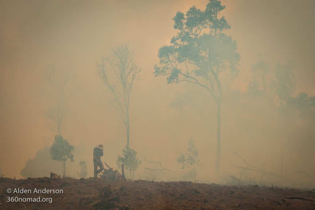 Crop Burning near Lak Sao