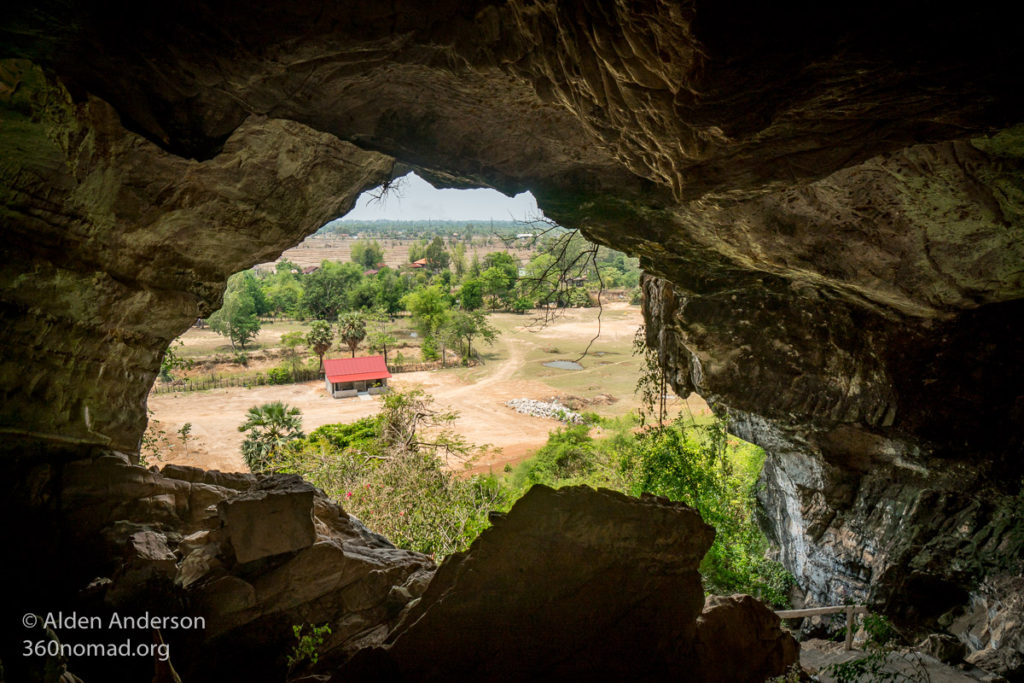 Looking out of Tham Xang