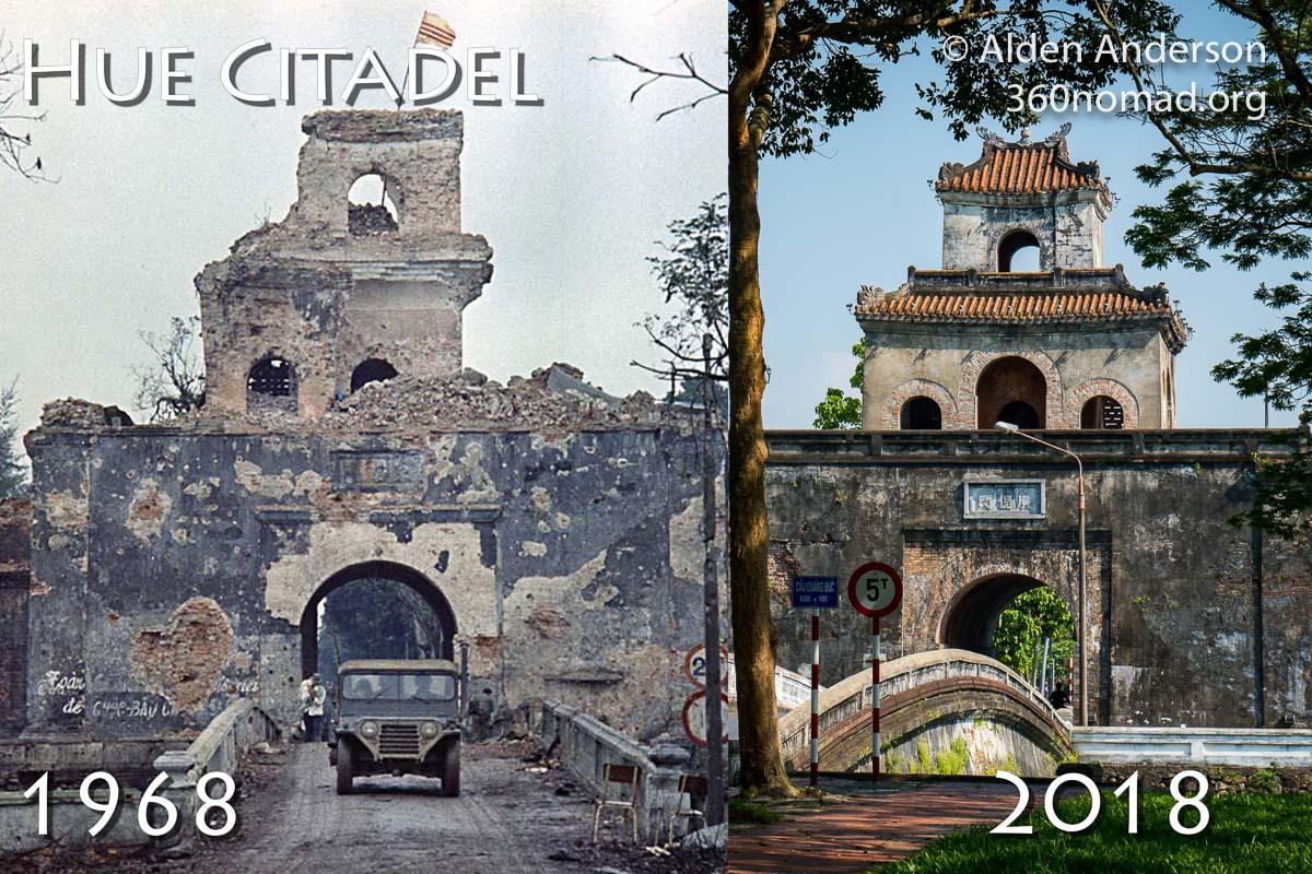 Hue Citadel 1968 vs 2018
