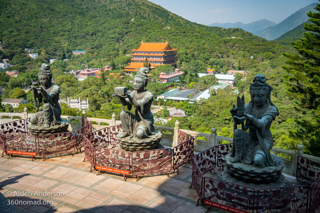 Po Lin Monastery, View from the Big Buddha