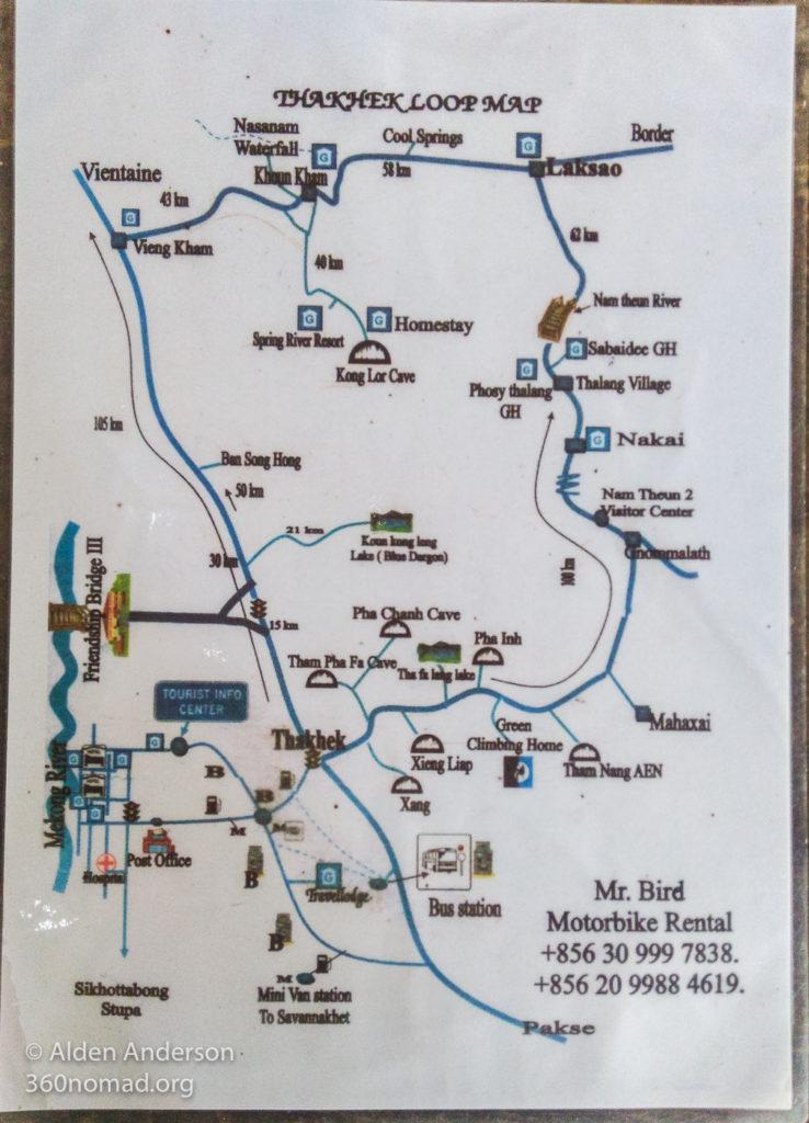 Thakhek Loop Map 01