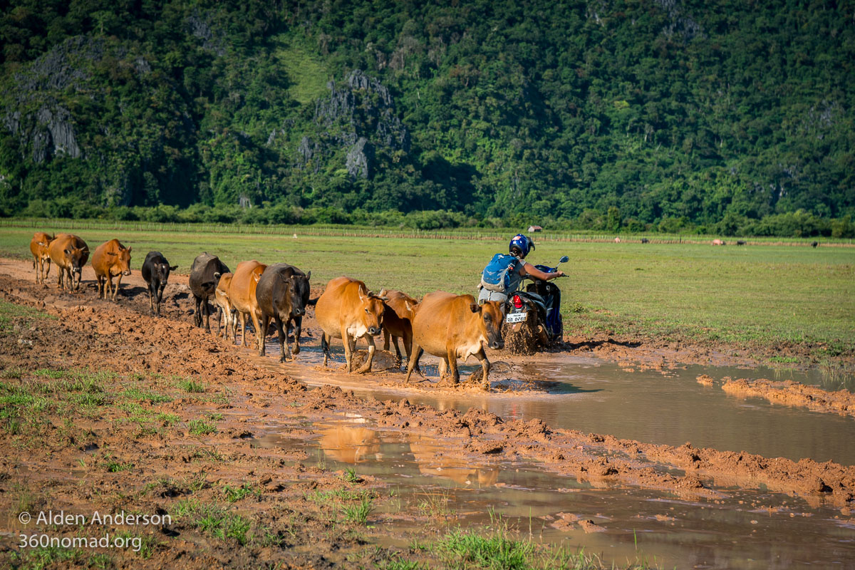 Rainy season on the Thakhek Loop