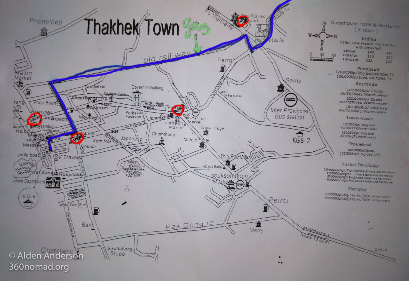 Police in Thakhek - Map