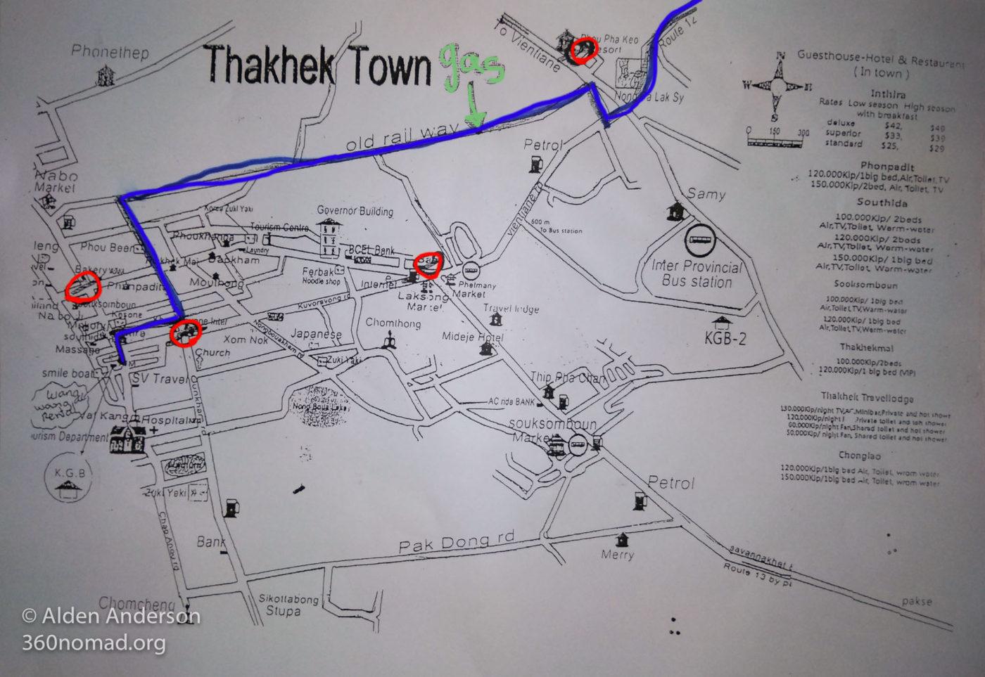 Police in Thakhek - Map