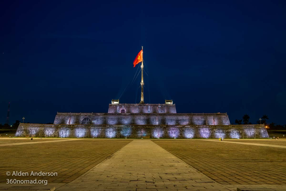 The Purple City - Hue Citadel at night
